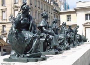 Statues six continents